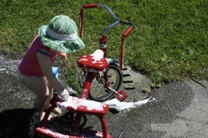 Мойка велосипеда.