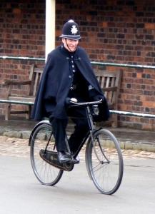 Полицейский велосипед.