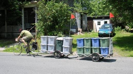 Велосипед бизнеса, велосипед для вывоза мусор
