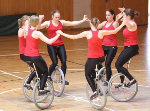 Одноколесный велосипед, цирковой велосипед, велосипед на одном колесе