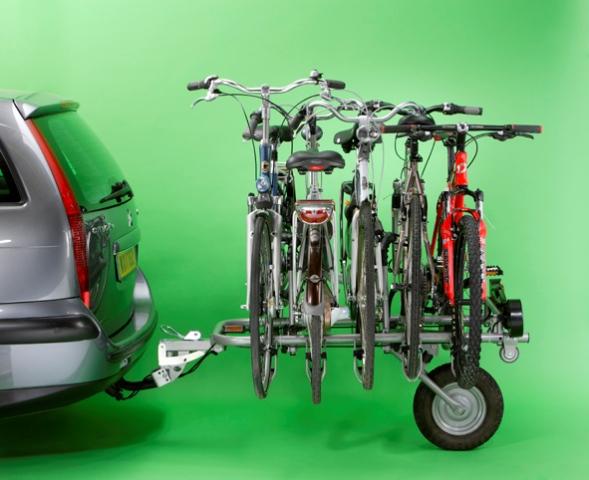 Перевозка велосипеда на прицепе автомобиля