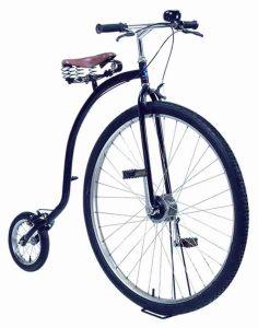 Пенни фартинг-велосипед из прошлого, велосипед викторианской эпохи