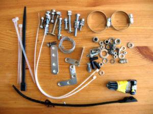 Аптечка для ремонта и ухода за велосипедом.