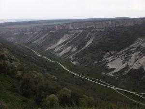 Велопоход. Крым Май 2011. Чуфут - Кале. Вид на долину Биюк - Ашлама.