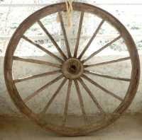 Изобретение колеса, кто изобрёл колесо, история колеса, колесо от повозки