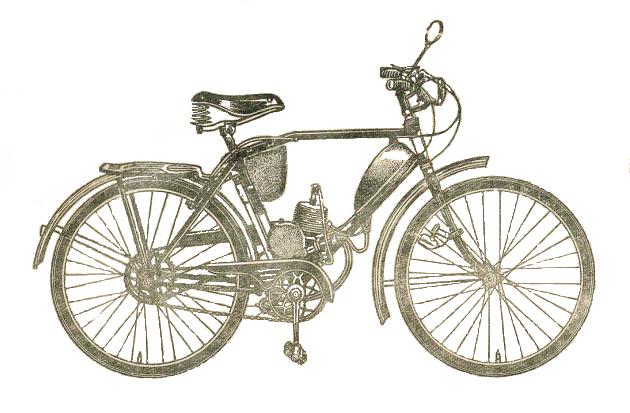 Моторизованный велосипед В901.