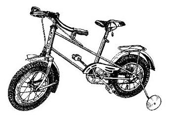 Двухколёсный детский велосипед КВД.