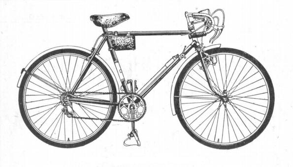 Мужской легкодорожный велосипед В37.