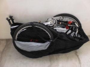Перевозка велосипеда в чехле.