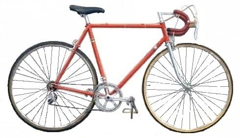 """Велосипед для шоссейных гонок высшего класса """"Москва 80"""" 155 - 412."""