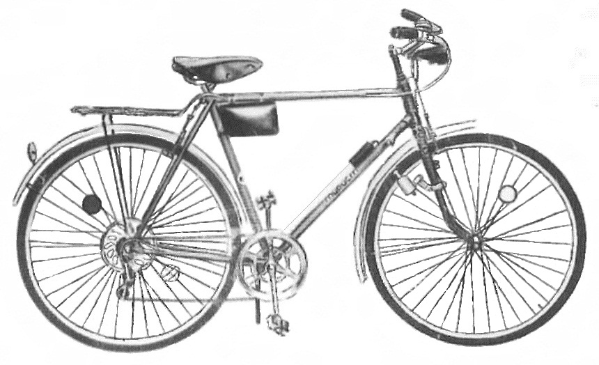 "Спортивно - туристический велосипед ""Турист"" 153 - 421."