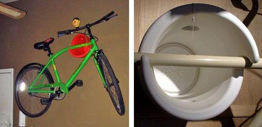 Подвешиваем велосипед.