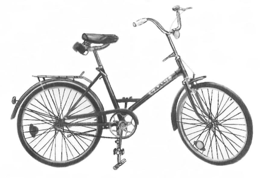 """Дорожный складной велосипед 113 – 911 """"Салют″."""