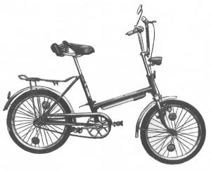 """Велосипед для подростков с разборной рамой """"Вента"""" 175-811."""