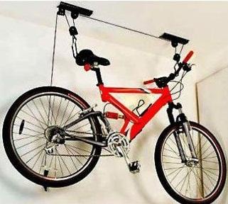 Подвеска велосипеда к потолку.