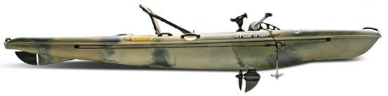 Лодка с приводом от велосипеда.