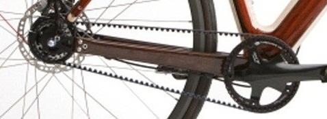 Велосипед с ременным приводом.