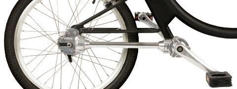 Велосипед с вальным приводом.
