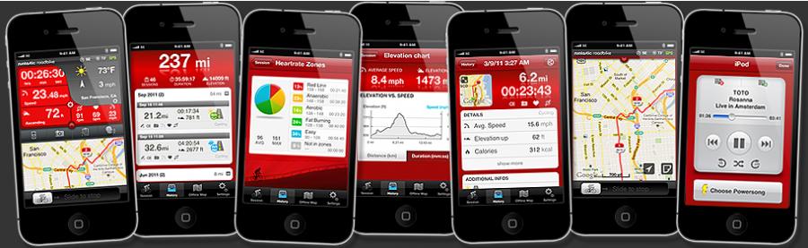 Приложения Runtastic для велосипедистов.