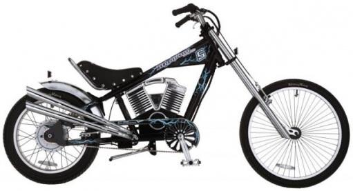 Электровелосипед чоппер Schwinn Electric Stingray.