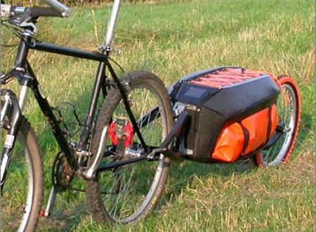 Особенности буксировки прицепа на велосипеде.