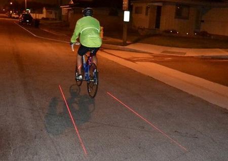 Лазерная велосипедная дорожка.