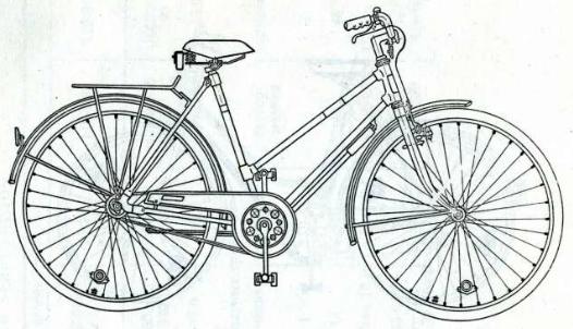 Велосипед дорожный модель 112 - 514.