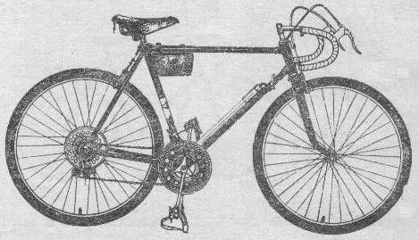 Велосипед спортивно - туристический 153 - 413.