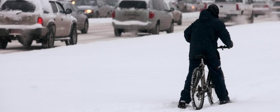 Особенности езды на велосипеде зимой.