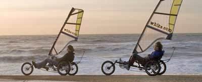 Велосипед с парусом Whike.