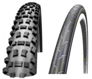 Смешанный подбор шин на велосипеде