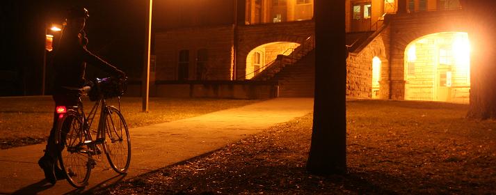 Ночная езда на велосипеде