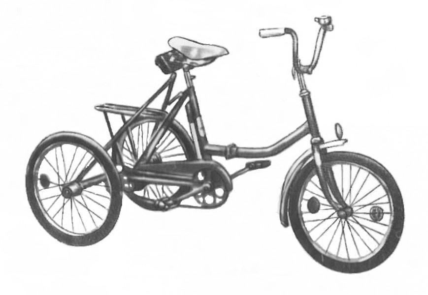 Велосипед трёхколёсный дорожный ЖВЗ 195-211