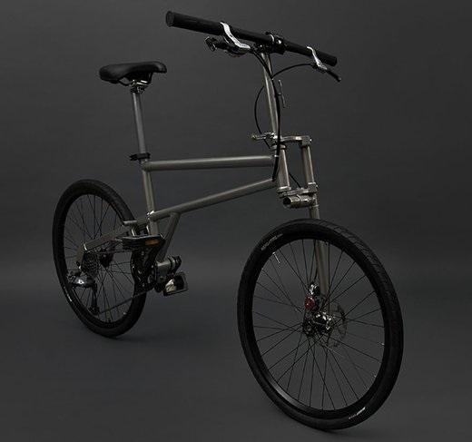 Складной титановый велосипед Helix