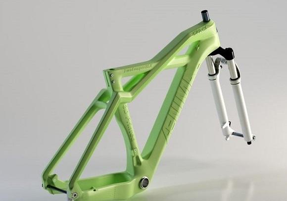 Биовелосипед с разлагающейся рамой 3D