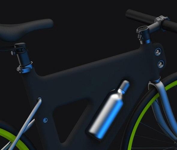 Велосипед концептуал Placha с рамой из пластика