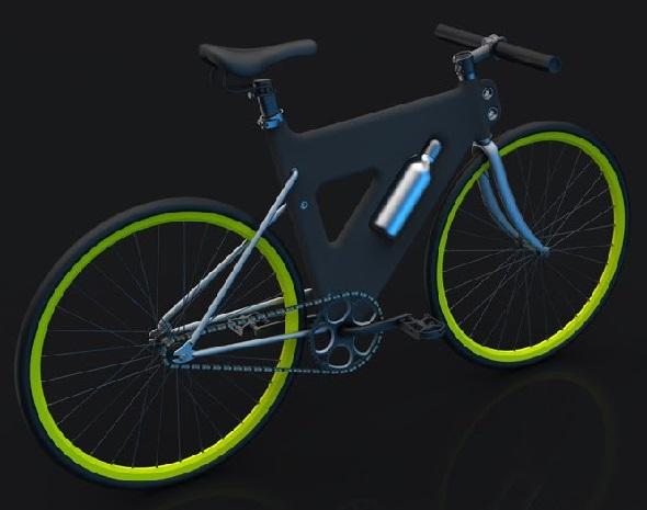 Концептуальная модель велосипеда Placha с рамой из пластика