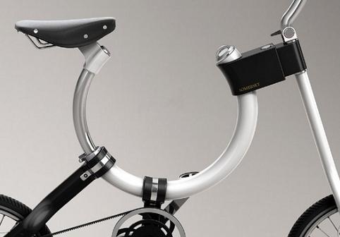 Овальная рама у складного велосипеда Somerset