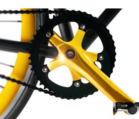 Передняя звезда велосипеда Тормоза велосипеда Задняя втулка велосипеда Golden Cycle Two
