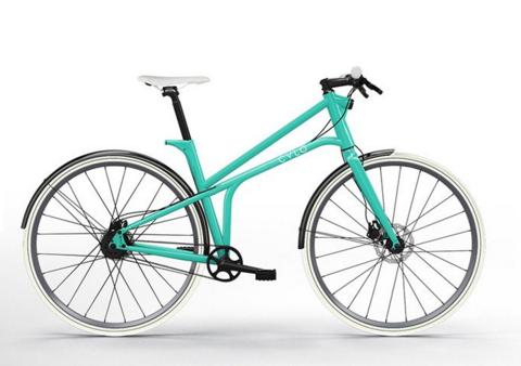 У городского велосипеда с названием CYLO 1 в раму интегрирован стоп сигнал