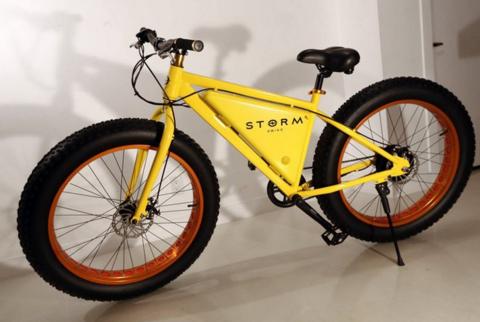 Велосипед Storm на электромоторе может проехать 80 км без подзарядки