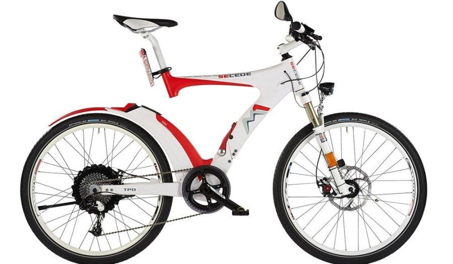 Складной электро велосипед с разъёмом