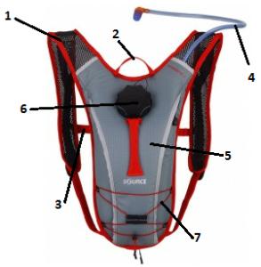 Гидратационная система для спортсменов велосипедистов.