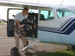 Перевозка велосипеда на самолете.