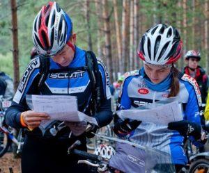 Спортивное ориентирование на велосипедах.