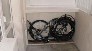 Храним велосипед зимой.