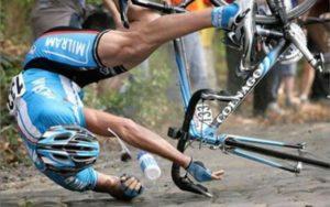Устойчивость велосипеда при торможении.