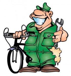 Три стратегии обслуживания велосипеда.