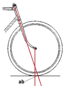 Плечо устойчивости велосипеда