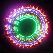 Светодиодная подсветка колес велосипеда